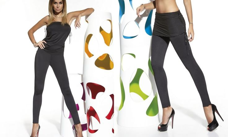 Sexy Combinaison catsuits modulable femme leggings jupe 2 en 1 BAS BLEU LILY