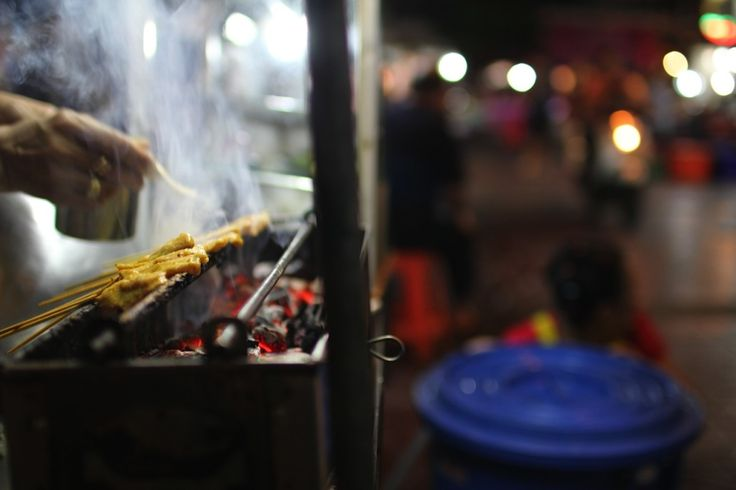 Chicken satay in Chinatown, Bangkok.  Read more about our experience at http://chasingaplate.com/bangkok-street-food/ Image by Thomas Southam
