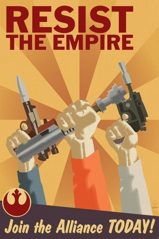 Resist The Empire - Rebel Alliance Propaganda 12x18 Poster. $20.00, via Etsy.