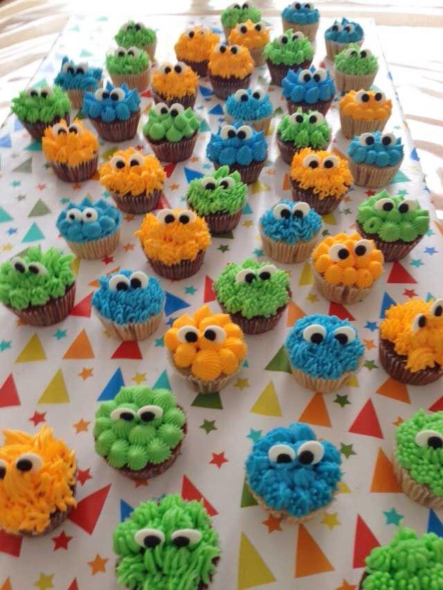 Mini monstertjes voor Roan zijn  eerste verjaardag.