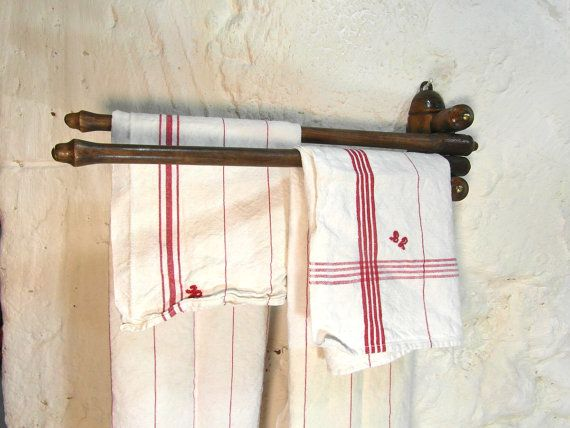 Wooden Towel Rack Kitchen Towel Rail French By Frenchvintagedream