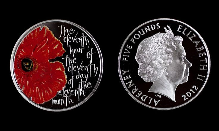 New poppy-inspired commemorative £5 coin launched to mark Remembrance Day