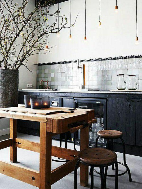 Die besten 25+ Industrielle Kücheninsel Beleuchtung Ideen auf - industrieller schick interieur moderner wohnung