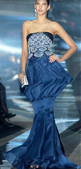 blue gown // Armani Prive | Haute Couture