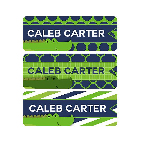 Daycare Labels Boy Waterproof Labels Name Labels Baby by ModishCC