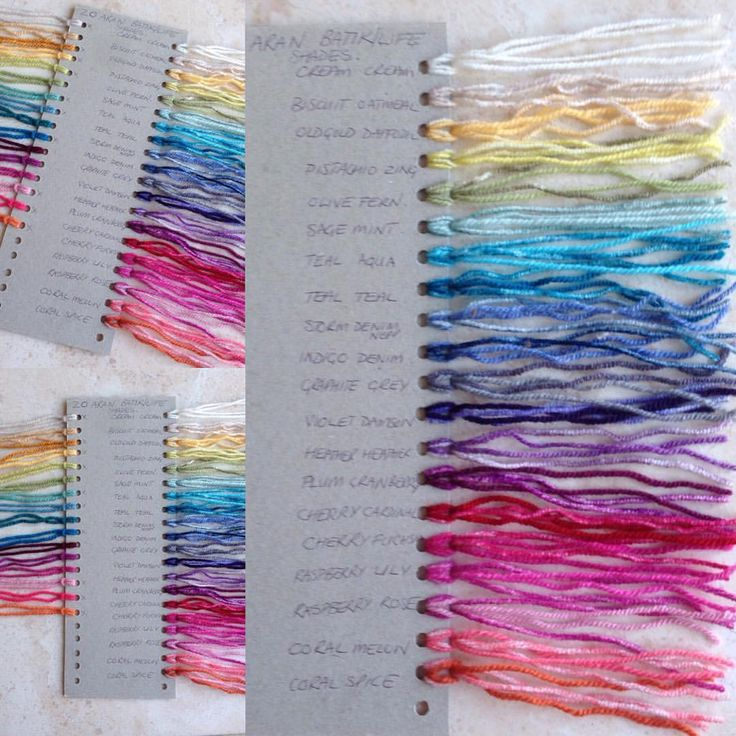 Mix your own Aran weight yarn