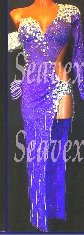 U3495 Lady Ballroom ChaCha Rumba Latin Samba Salsa Dance Competition Dress US 10 | eBay