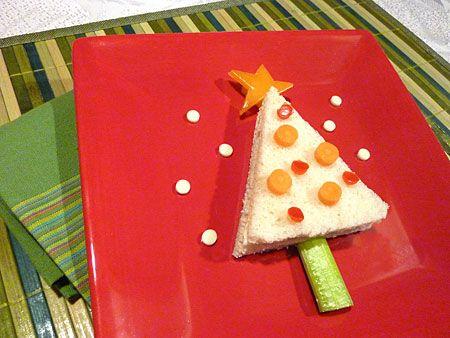 Christmas-Tree-sandwich #sandwich #Christmas #kerstdiner #kinderen #kinderdiner