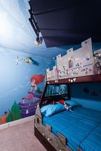 Kids love the Undersea room with double bunk bed, boat on ceiling, Nemo, Ariel - HomeAway vacation rental