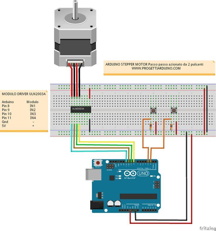 71. Arduino stepper motor passo passo azionato da due pulsanti - PROGETTI ARDUINO