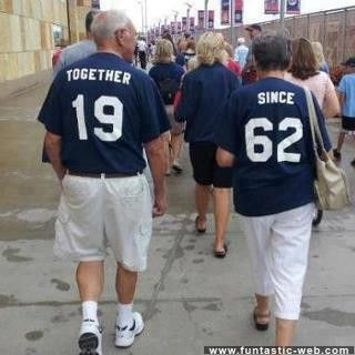 Read the t-shirts... Together . Since - 1962.  Adorable.