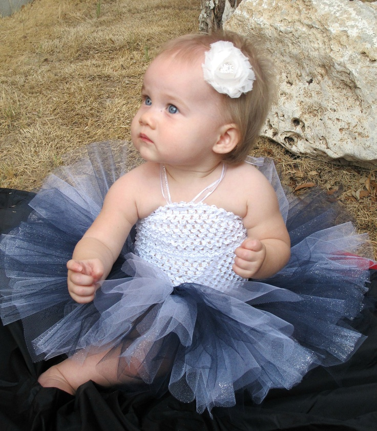 Dallas Cowboys Colors Tutu in Navy Blue, White, and Silver, Perfect for Football Season, Baby, Toddler, Girls - Newborn Photography Prop. $20.00, via Etsy.