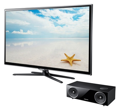 """Samsung 65"""" 1080p 120Hz 3D LED Smart HDTV (UN65ES6500) with Audio Dock from the Shopping Channel #ilovetoshop"""