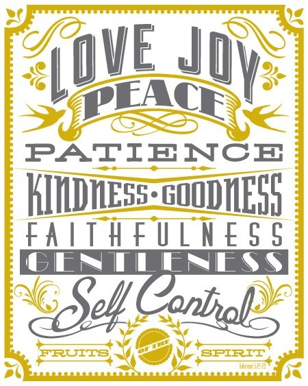 : Fruit, Fonts Styles, Typography Poster, Scripture, Art Prints, 8X10 Art, Spirit, Bible Ver, Poster Prints