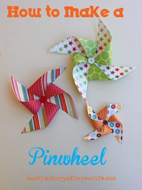 How to Make a Pinwheel: Art Crafts, Zebras Celebrity, Pinwheels Tutorials, Buckets, Theme Parties, Art & Crafts, Add Buttons, Cards Make, Paper Crafts
