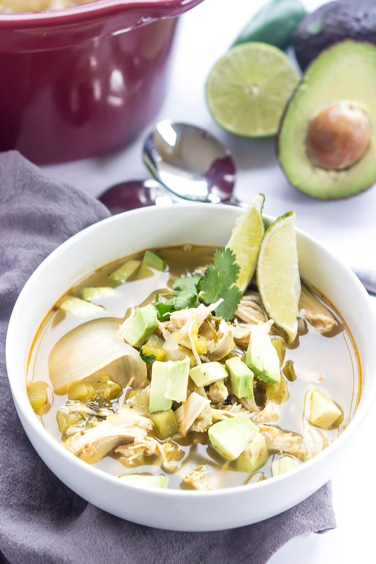Slow cooker green chile chicken soup such an easy paleo for Winter soup recipes easy