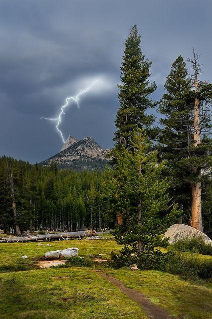 Cathedral Peak Lightning - Yosemite National park | Flickr - Photo Sharing!