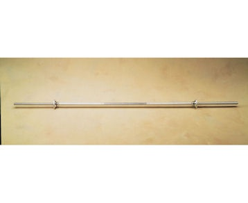 The Gold's Gym Sure-Lock Straight Bar is ocnstructed in heavy duty solid steel for durability, strength and support