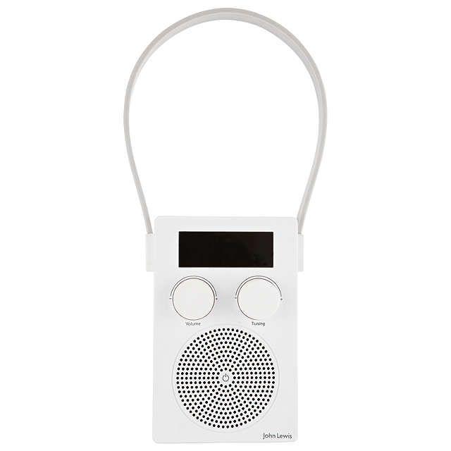 BuyJohn Lewis Spectrum DAB/FM Portable Digital Shower Radio, White Online at johnlewis.com