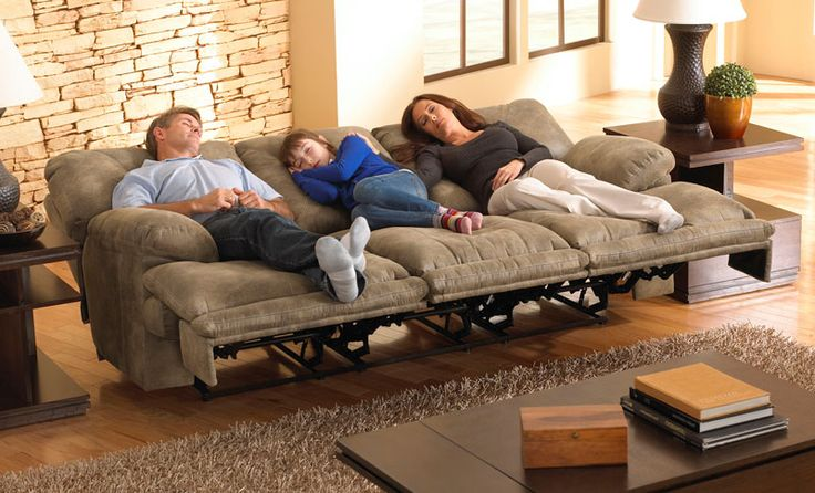 Probably one of the most unique products we've seen in a while! It's a reclining sofa that not only leans back but lays flat.