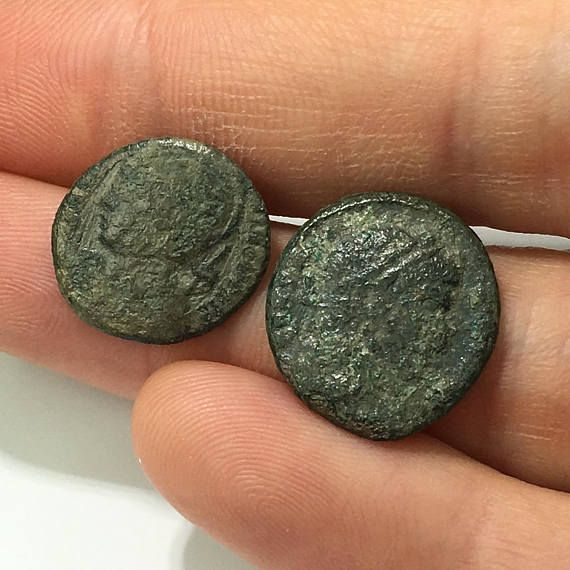 2 Ancient Roman coins ON SALE lovely Roman artifacts Bronze