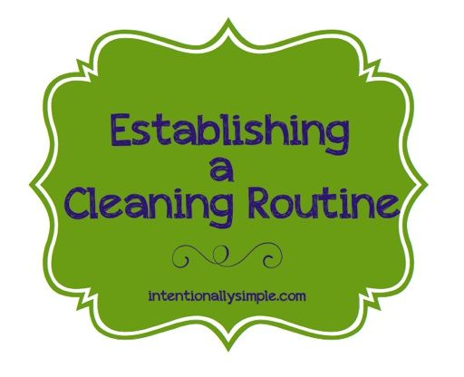 I have established a morning routine, evening routine and weekly cleaning schedule that have really helped make our household management sim…