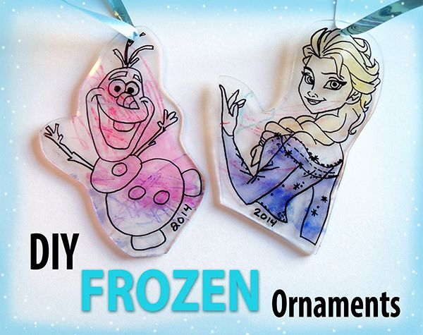 DIY Frozen Ornament - Perfect for Christmas, or as an everyday sun catcher!  A great little craft for the kids!