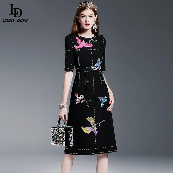Women's Half Sleeve Luxury Birds Beading Sequin Black Knee Length Dress $96.02   => Save up to 60% and Free Shipping => Order Now! #fashion #woman #shop #diy  http://www.clothesdeals.net/product/new-fashion-2016-runway-dress-womens-high-quality-half-sleeve-luxury-birds-beading-sequin-black-knee-length-dress