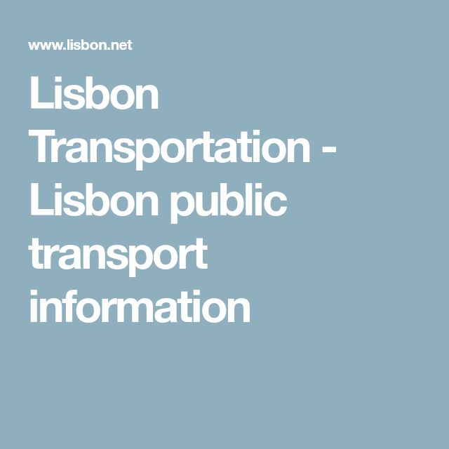 Lisbon Transportation - Lisbon public transport information
