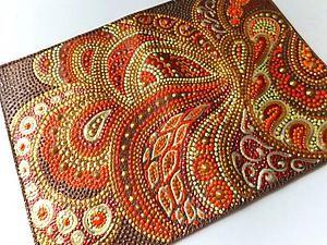 Мастер-класс по точечной росписи обложки - Ярмарка Мастеров - ручная работа, handmade