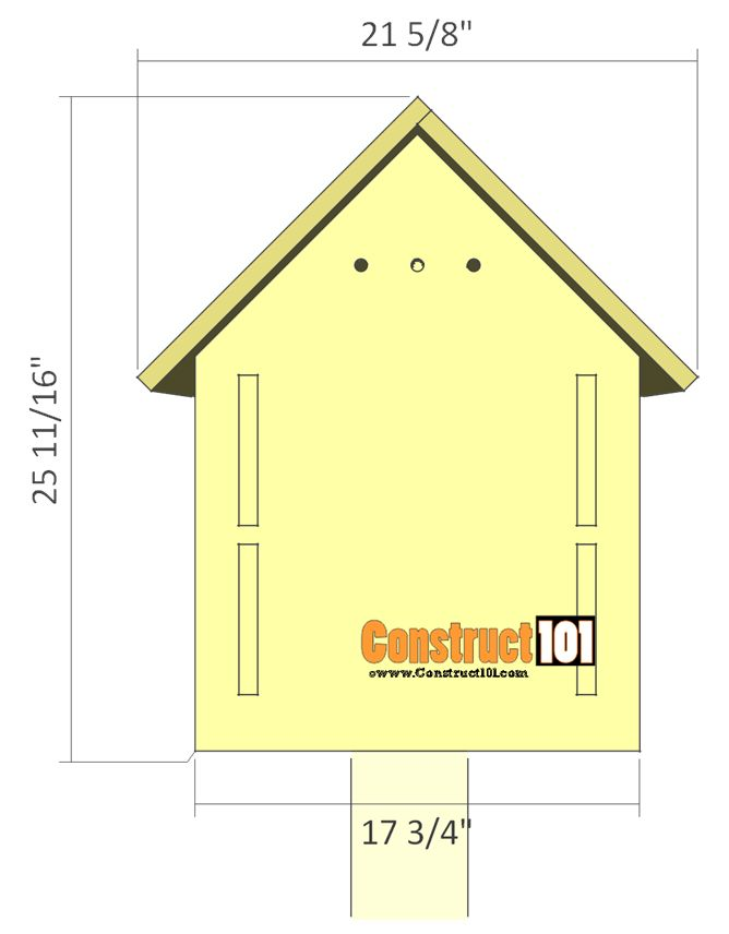 25 best bird house plans ideas on pinterest diy for Free house plans with material list