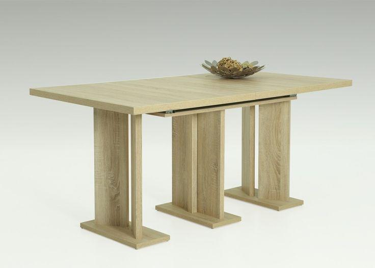 Kulissentisch Nadine 160x90 Säulentisch Esstisch Sonoma Eiche 1433. Buy now at https://www.moebel-wohnbar.de/kulissentisch-nadine-160x90-saeulentisch-esstisch-sonoma-eiche-1433