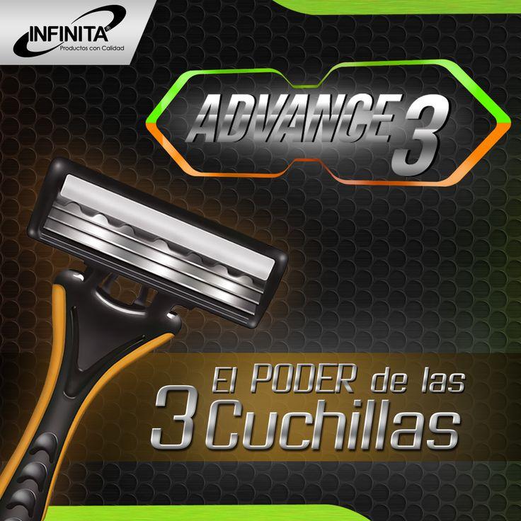 ADVANCE 3 para una afeitada precisa y sin irritaciones.    #cuidadopersonal #afeitada #hombre #salud