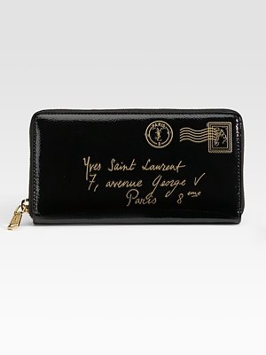 YSL wallet & french writing? can this be more perfect?!