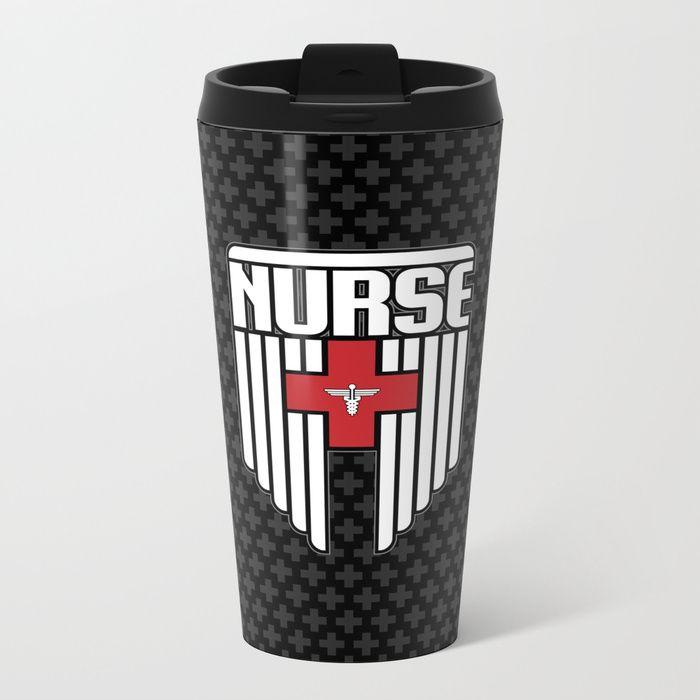 Nurse Shield Metal Travel Mug