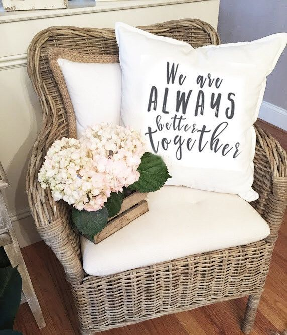 We are Always Better Together pillow cover - Marriage pillow cover - Quote Pillow Cover - Bedroom Pillow Cover by LivingwithAmanda on Etsy https://www.etsy.com/listing/506361467/we-are-always-better-together-pillow