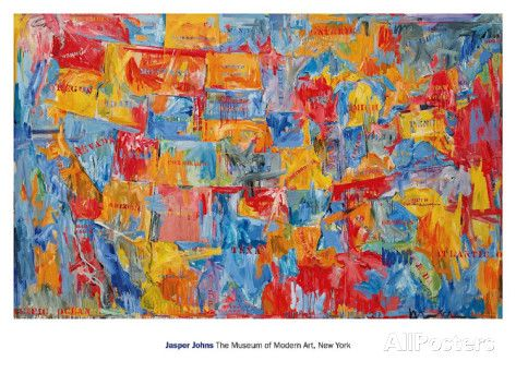 Map Posters by Jasper Johns at AllPosters.com