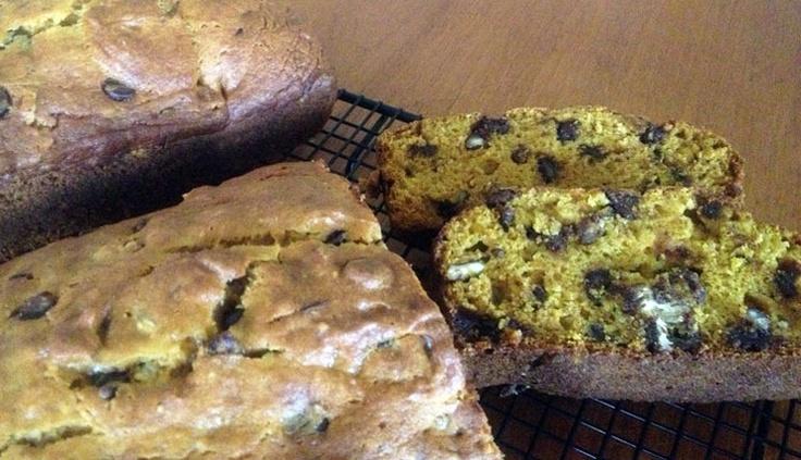 pumpkin chocolate chip pecan bread | baking | Pinterest