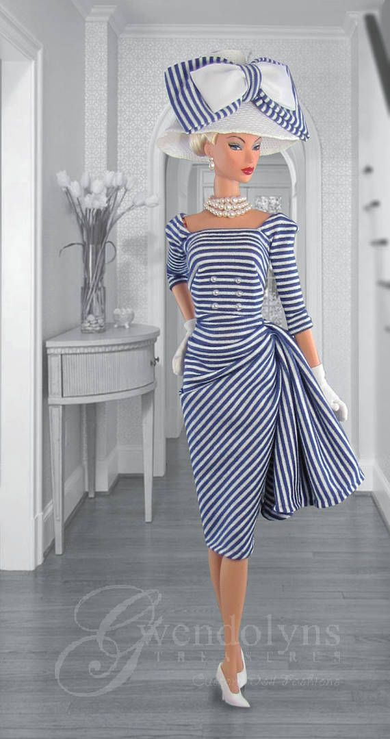 NAUTICAL CHIC Fashion for Fashion Royalty, Silkstone, Monogram, Victoire, and similar sized dolls.