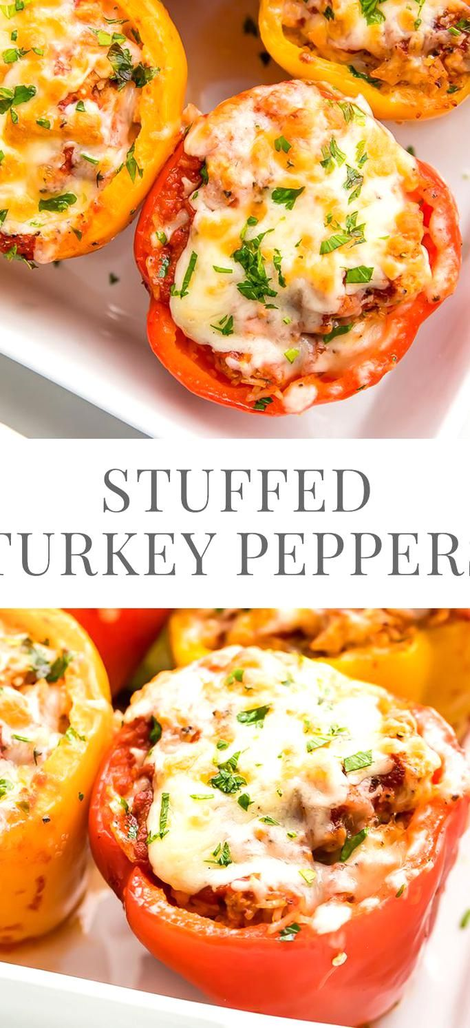 Turkey Stuffed Peppers Easy Healthy Recipes In 2020 Stuffed Peppers Stuffed Peppers Turkey Recipes