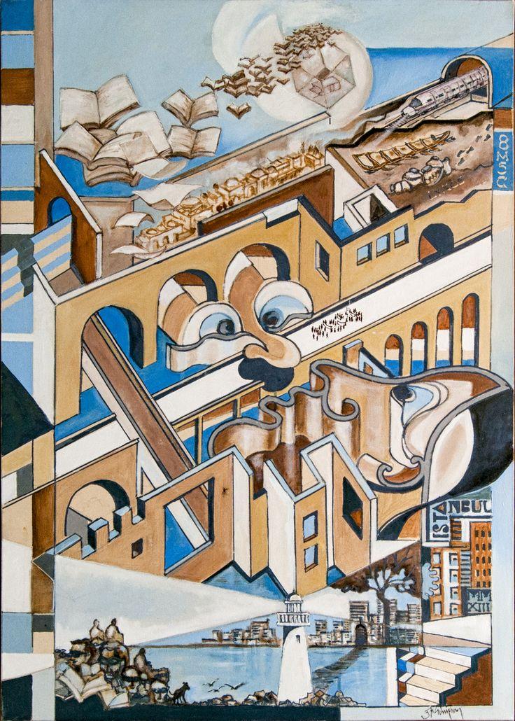 İki Yüzlü #Şehir / Dupliticious #City Tuval üzerine #Yağlıboya / #Oiloncanvas 70cm x 100cm 9.000₺ / 2.550$  #gallerymak #sanat #ig_sanat #yagliboya #modernsanat #art #arte #kunst #disavurum #sanateseri #artgallery #contemporaryart #contemporarypainting #haldunerdogan #atolye #elyapimi #sanatsever #istanbulmodern #contemporary #figurativepainting #figurative #drawing #artforsale #artmarket #artoftheday #fineart