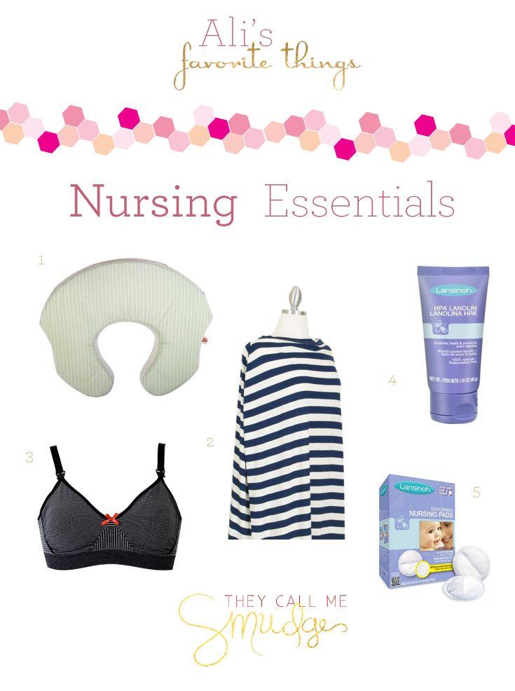 Nursing Essentials – Nursing Pillow, Nursing Cover / Scarf, Lanolin, Disposable Breast Pads, Nursing Bra | Ali's Favorite Things