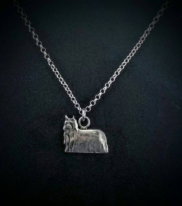 Yorkshire Necklace,Yorkshire Pendant, Miniature Yorkshire, Yorkshire Terrier, Yorkshire Dog, Yorkshire Gift, Dog Necklace, Silver Dog by TheDogsPlace on Etsy