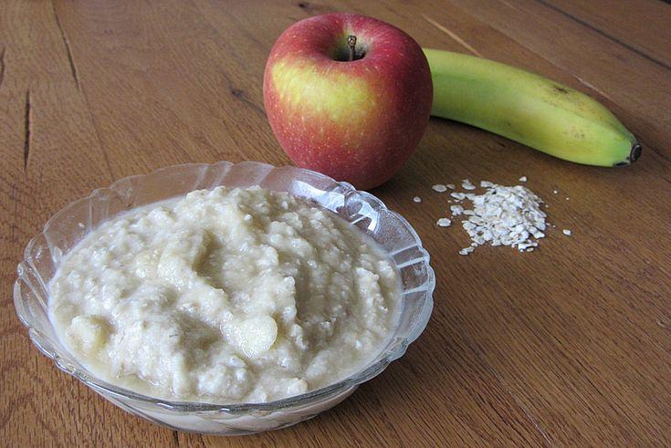 Apfel - Banane - Haferflocken - Brei, ein raffiniertes Rezept aus der Kategorie Herbst. Bewertungen: 10. Durchschnitt: Ø 3,8.