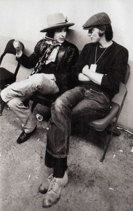 Playwright/writer/actor/director Sam Shepard, with Bob Dylan, Rolling Thunder Revue tour, 1975/76
