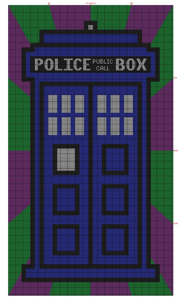 Doctor Who Tardis Crochet Blanket Graph Pattern For Piper's New Blanket  Feel Free To Use
