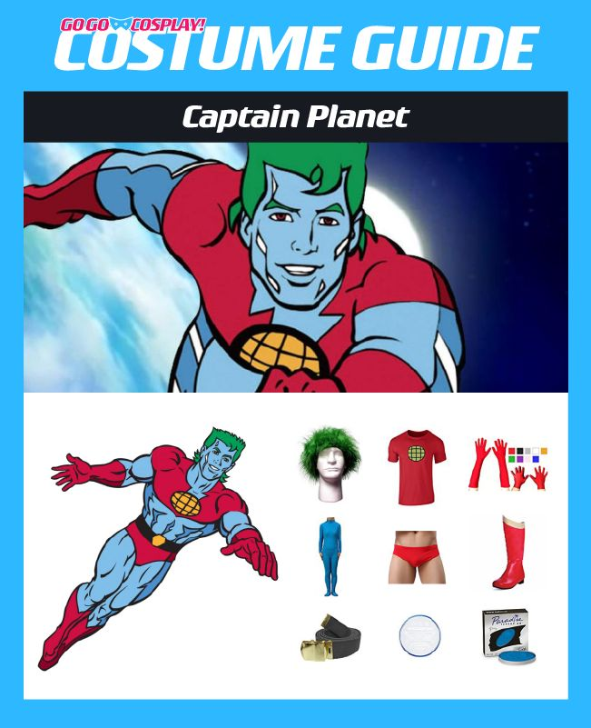 Captain Planet Costume Diy Guide For Cosplay Halloween Captain Planet Costume Diy Costumes Great Halloween Costumes