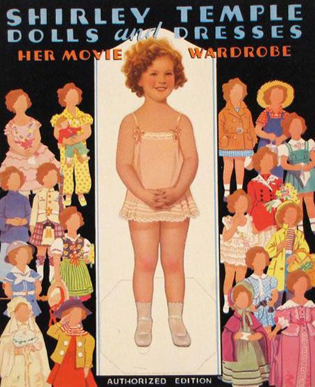 Shirley Temple Paper Dolls, 1930s.