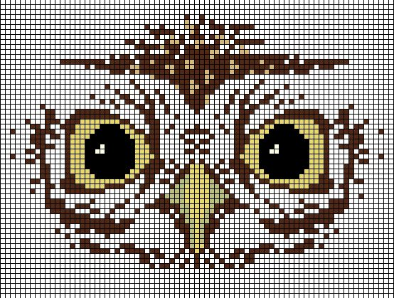 Cross stitch or tapestry #crochet #owl.  ☀CQ Another great pillow or bag idea!
