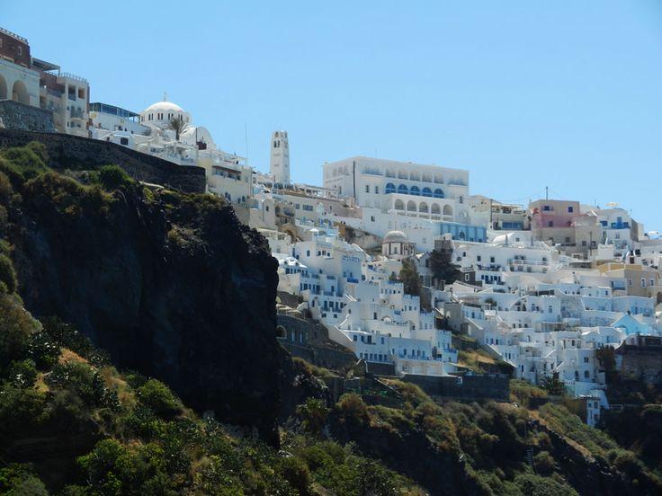 Fira, Santorini, Greece.  #travel, #destination, #Santorini, #Greece http://travellingwizards.com/destinations/countries/greece/islands/santorini